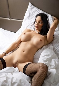 Perfect bodied hottie just in stockings