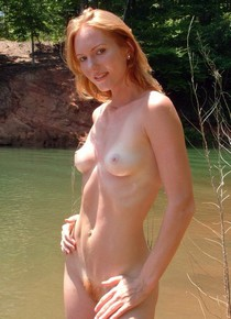 Every day after school rush to the river to watch my pure mature redhead sexy neighbor..