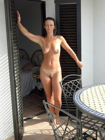 Skinny pure mature posing nude with wet hairy pussy and natural sweet tits
