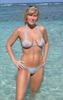 Older chick in wicked weasel swimsuit.
