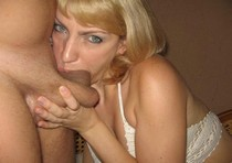 Awesome deepthroat! Whole huge cock inside mouth