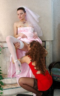 Incredible vagina costume picture with a hot lesbian cougar.