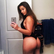 Amateur sexy selfshot in hot thong on big wonderful ass and hot big breasts