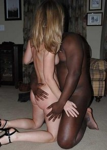 Amazing blonde butt in this awesome novice interracial photo.