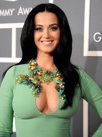 Deep Cleavage In Very Tight Dress.