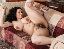 Busty milf hairy pussy image