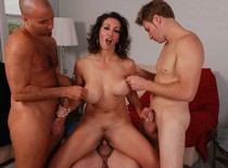 Horny Pornstar Persia Monir fucked by three Guys..