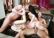 Swingers foursome sex.