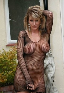 Fishnet bodysuit.