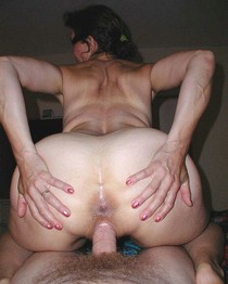 Passionate wife with a huge butt riding cock hard
