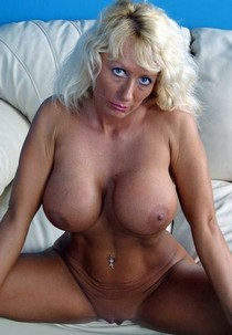 Mature Senior blonde with big boobs