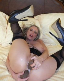 Mature Housewife Need Two Dildos One in Pussy and the Other On Ass.