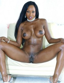 Incredible vagina pic featuring lovely black brunette.