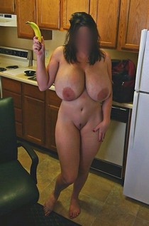 Unknown amateur with big tits.