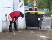 You really can't get any more public than this public pissing babe!