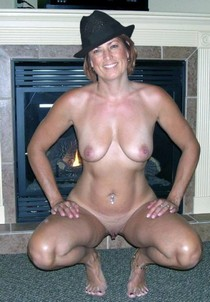 Wife loves wearing fedora hats on nude body.