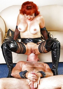 Hot redhead mature in this incredible playing with self pussy picture.