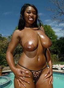 Delotta Brown at the pool.