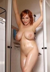 Busty beauty in the showet