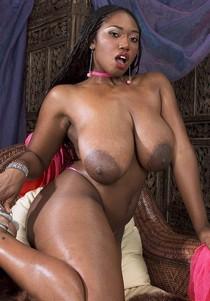Delotta Brown - huge saggy tits.