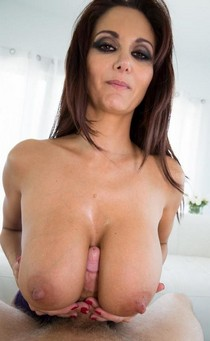 Ava Addams has a big dick jammed deep in her ass.