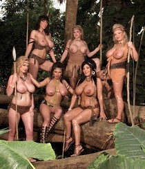 Six Hot Amazon Women in the Jungle.
