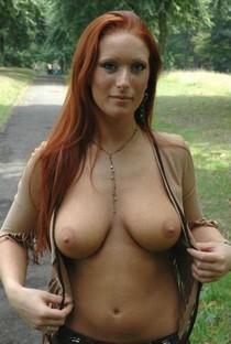 Hot redhead mom, big boobs