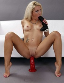 Blonde Mature Dildo Banger
