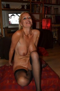 Amazing blonde big boobs lingerie in this incredible bj cumshot picture.