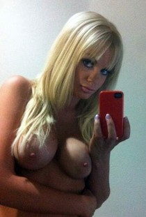 Horny blonde selfshot her busty natural sexy breasts with big hot nipples