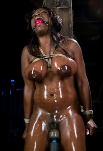 Nude oiled Jada Fire