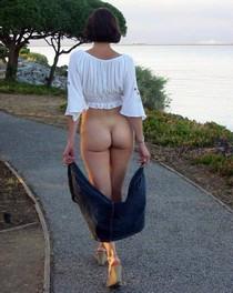 This walkway is her catwalk