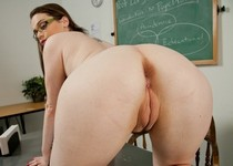 Tessa Lane in the classrom.