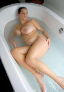 Chubby wife in tne bathroom.