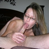Amateur MILF With A Hard Dick In Her Mouth - True Amateur Models.
