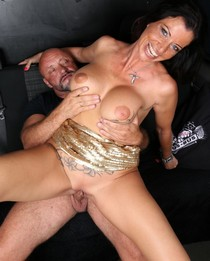 Big breasted MILF gets her twat nailed in BumsBus